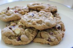 White Chocolate Chip Cookied with Cranberry and Nuts :)