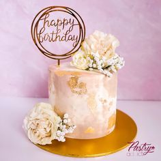 Nude themed cake with fresh florals, a gold leaf accent and a gold birthday topper. Call or email us to design your dream cake today! #nudecakes #50shadesofnude #nudecakedesigns #birthdaycakeforher #birthdaycakeideas #milestonebirthdaycakes #melanincakes #cakedecorating Gold Birthday, Happy Birthday, Birthday Cake, Cakes Today, Dream Cake, Specialty Cakes, Themed Cakes, 50 Shades, Cake Designs