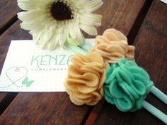 Diademas - Diadema flor ref:001 - hecho a mano por KENZA-COMPLEMENTOS en DaWanda