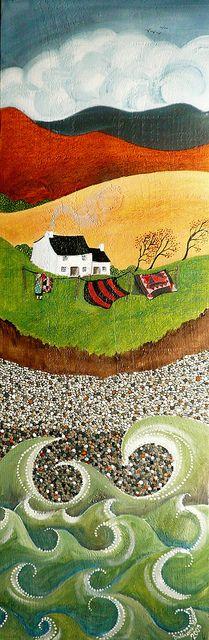 oil on wood by Valeriane Leblond