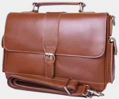 Handmade Genuine Leather Briefcase Messenger Bag