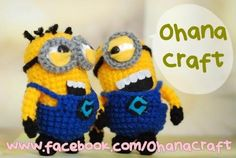 Mini Despicable Me Minions crochet pattern
