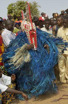 Africa | Bobo Masquerader. Sancri, Burkina Faso | ©Sergio Pessolano  dancer man costume ivory coast