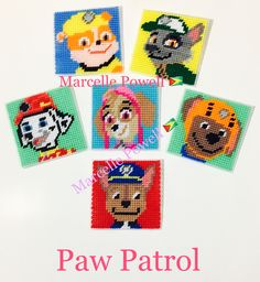 Plastic Canvas Paw Patrol Wall Hanger by Marcelle Powell ❤️