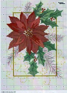 "Lovely heart tricks: Cross Stitch: ""Puansetiya - Christmas flower"" (collection schemes)"