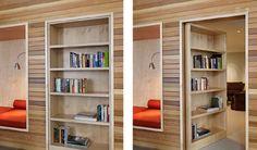 Как изящно спрятать вашу секретную комнату: книжный шкаф-дверь от DeForest Architects