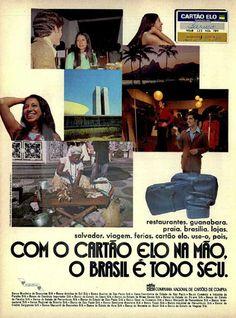 Cartão Elo #Brasil #anos70 #retro #anunciosAntigos #vintageAds