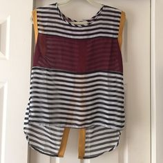 Striped short sleeve shirt Striped sheer cute shirt Tops Tees - Short Sleeve