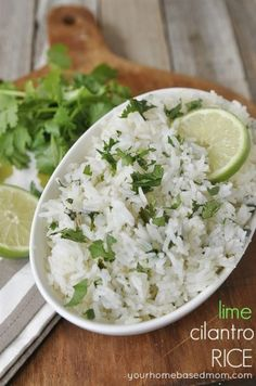 Lime Cilantro Rice - your homebased mom