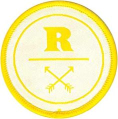 Custom woven patches for The Ranch made by CBF Labels. Email us at cbf@cbflabel.com for free samples!