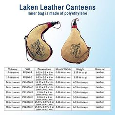 Laken Spanish Leather Wine Bota Water Canteen ** Check out the image by visiting the link.