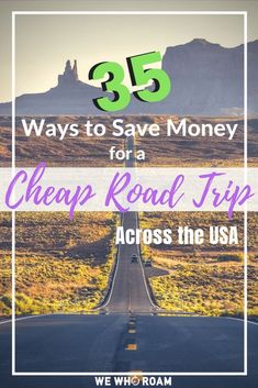 35 Ways to Save Money For A Cheap Road Trip Across the US - We Who Roam Make your dream road trip a reality without breaking the bank! Here are 35 ways to save money for a cheap road trip across the US. Road Trip Usa, Road Trip On A Budget, Road Trip Packing, Road Trip Essentials, Road Trip Hacks, Cheap Travel, Budget Travel, Ways To Travel, Travel Tips