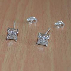 Classic Design Earring Cubic Zircon Silver by DevmuktiJewels