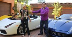 Kim and Robert Kiyosaki in front of their exotic car collection Robert Kiyosaki, Blog Instagram, Rich Dad, Real Estate Investing, Opportunity, Entrepreneur, Dads, Marketing, Education