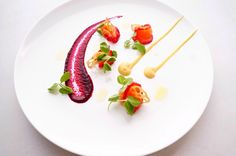 Salmon gravlax, golden beetroot, beetroot puree, lotus root, snowpea tendrils - The ChefsTalk Project