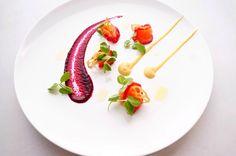 Salmon gravlax, golden beetroot, beetroot puree, lotus root, snowpea tendrils - The ChefsTalk Project