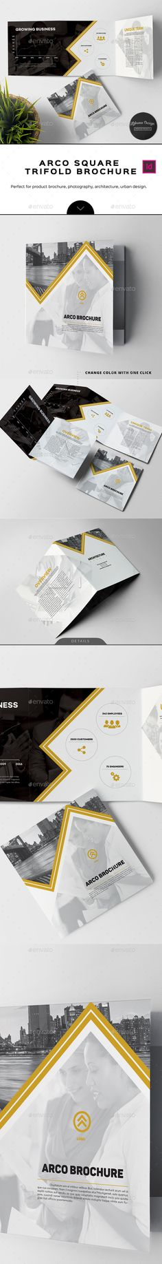 Arco Business Square Trifold Brochure Template InDesign INDD. Download here: http://graphicriver.net/item/arco-business-square-trifold-brochure/16667014?ref=ksioks