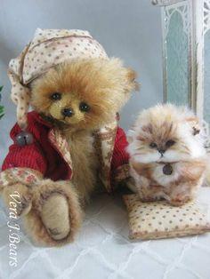 Caspar and a little kitten by By Vera J.Bears | Bear Pile