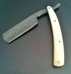 DAMASCUS STEEL HAND MADE STRAIGHT RAZOR for $175.00 #onselz