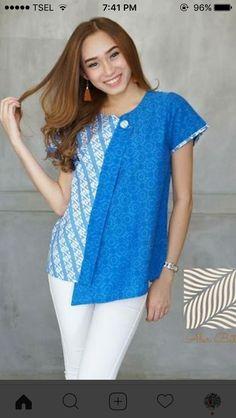 Blouse Batik, Batik Dress, Chic Outfits, Fashion Outfits, Batik Kebaya, African Print Clothing, Batik Fashion, Batik Pattern, Asian Fashion
