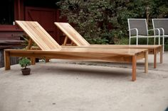 Pool Outdoor Lounger Cedar boards were used, but could use pallet wood ran from left to right.