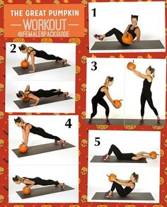 Happy Halloween!! Accept this as a Halloween challenge and do these workouts also tag your friends to challenge them too :  1.Seated Russian Twist   2.Uneven Push-Up   3.Standing Woodchop   4.Double Push-Up   5.Sit-Up   #female6packguide