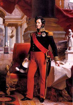 Louis-Philippe Ier - Roi des Français - (06/10/1773 Paris - 26/08/1850 Claremont) - Descendant de Louis XIV, cousin de Louis XVI, Louis XVIII, Charles X - Dynastie des Orléans