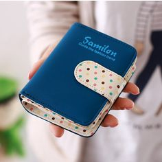Women Wallets Short Polka Dots Leather Zipper Small Wallet – Premium Luxury Clutches & Purses