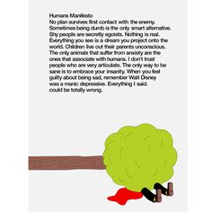 manifesto poster - HUMANS 01 COLLECTION | Humans by Mike Mills