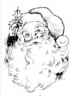 Stampendous - Cling Mounted Rubber Stamp - Jolly Santa