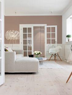 Farveinspiration: Maling af en enkelt væg - Lilly is Love Living Room Color Schemes, Living Room Colors, Living Room Designs, Living Room Decor, Home Panel, Living Room Inspiration, Beautiful Interiors, Interior Design, Painting