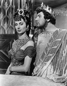 Patricia Laffan and Peter Ustinov in Quo Vadis (1951), directed by Mervyn LeRoy.