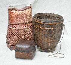 bamboo storage baskets, Lombok