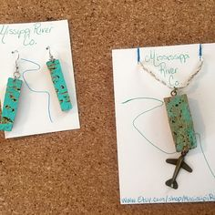 Up cycled wine cork jewelry accessories and by MississippiRiverCo