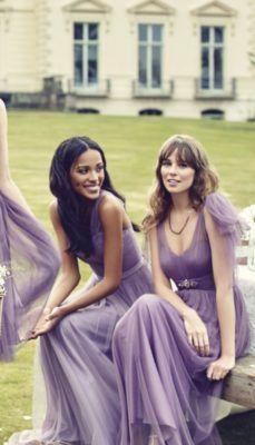 80 Stylish Purple Wedding Color Ideas – Page 16 – Hi Miss Puff Lavender Gown, Lavender Bridesmaid Dresses, Beautiful Bridesmaid Dresses, Wedding Bridesmaids, Wedding Dresses, Bridesmaid Gowns, Mod Wedding, Purple Wedding, Wedding Stuff