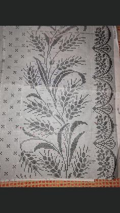 Cross Stitch Flowers, Counted Cross Stitch Patterns, Embroidery Designs, Crochet, Crafts, Crochet Blankets, Cross Stitch Embroidery, Towels, Farmhouse Rugs