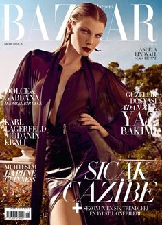 Angela Lindvall by Koray Birand for Harpers Bazaar Turkey May 2012