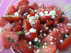 Watermelon and Tomato Salad -
