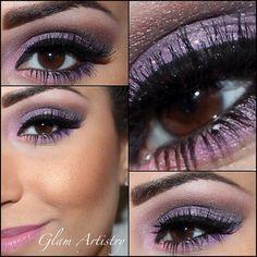 Shimmer pastel purple  @glam_artistry_mua