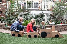 cardboard box party....love the pictures