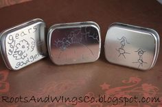 How to etch a design on an altoids tins using crayons and salt water.