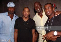 News Photo : Charles Oakley, Jay-Z, Michael Jordan, and Chris...
