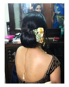 How To Accessorize Right With Your Favourite Wedding Hairstyle! Bollywood Hairstyles, Saree Hairstyles, Indian Bridal Hairstyles, Wedding Hairstyles, Indian Long Hair Braid, Braids For Long Hair, Bridal Hair Buns, Hot Hair Styles, Indian Beauty Saree