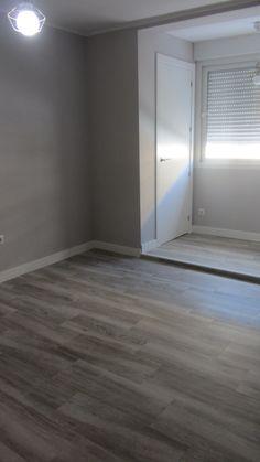 Solado de vivienda, opción I, solado con gres porcelánico, estilo madera.