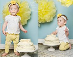love the colors in this cake smash session!