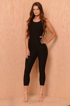 Cut It Out Jumpsuit - Black