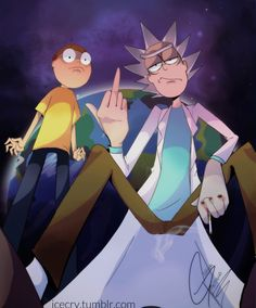 Gettin' yo ass handed to ya by the Sci-Fi Gansta himself. | Rick and Morty fan art by Giahna Pantano
