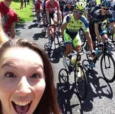 The atmosphere at the Tour de France in Yorkshire this weekend summed up in one photobomb.  Please follow us @ http://www.pinterest.com/wocycling