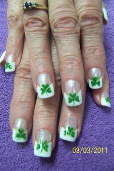 art galleri, galleries, clovers, nail art designs, nail arts, st patricks day, beauti, march nail, chevron
