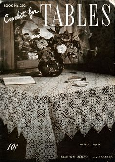 Clarks 202 Crochet for Tables 1940s